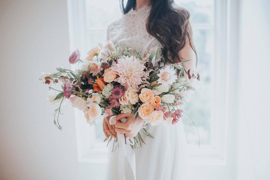 Light & Airy Peach Wedding Inspiration with Bridal Separates | Sara Gatlin Photo 12