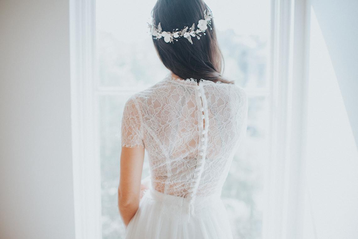 Light & Airy Peach Wedding Inspiration with Bridal Separates | Sara Gatlin Photo 13