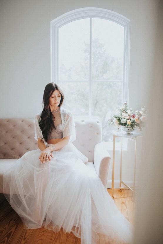 Light & Airy Peach Wedding Inspiration with Bridal Separates | Sara Gatlin Photo 16