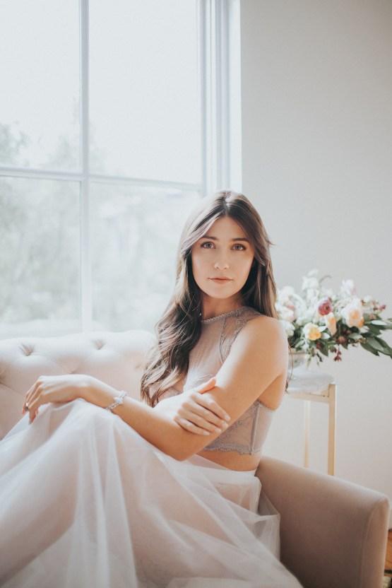Light & Airy Peach Wedding Inspiration with Bridal Separates | Sara Gatlin Photo 19