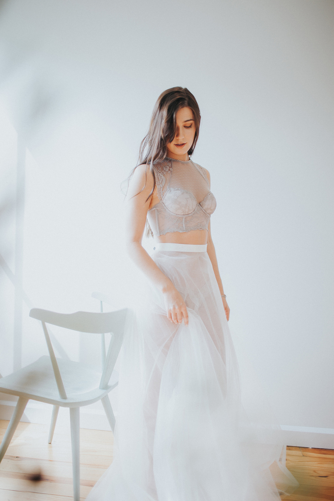 Light & Airy Peach Wedding Inspiration with Bridal Separates | Sara Gatlin Photo 21