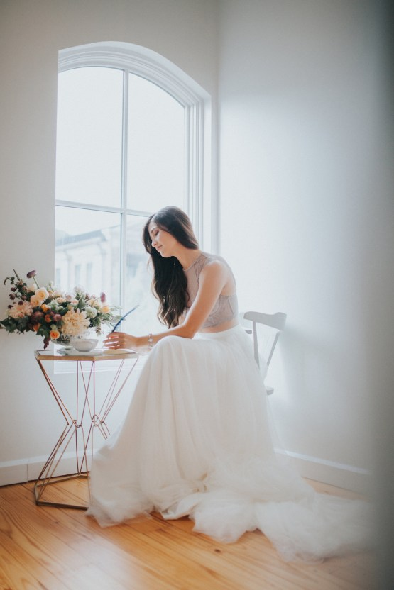 Light & Airy Peach Wedding Inspiration with Bridal Separates | Sara Gatlin Photo 24