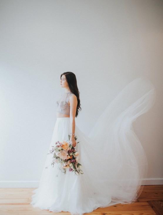Light & Airy Peach Wedding Inspiration with Bridal Separates | Sara Gatlin Photo 26