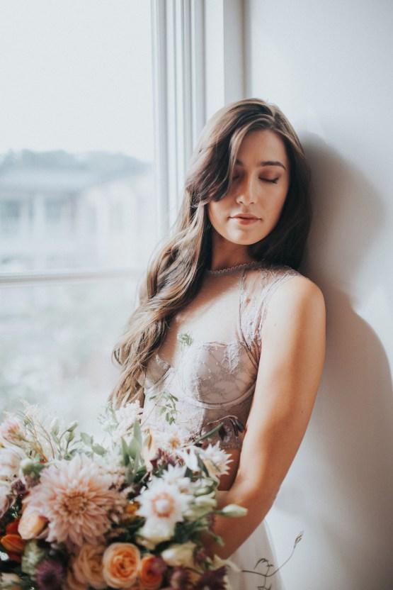 Light & Airy Peach Wedding Inspiration with Bridal Separates | Sara Gatlin Photo 30