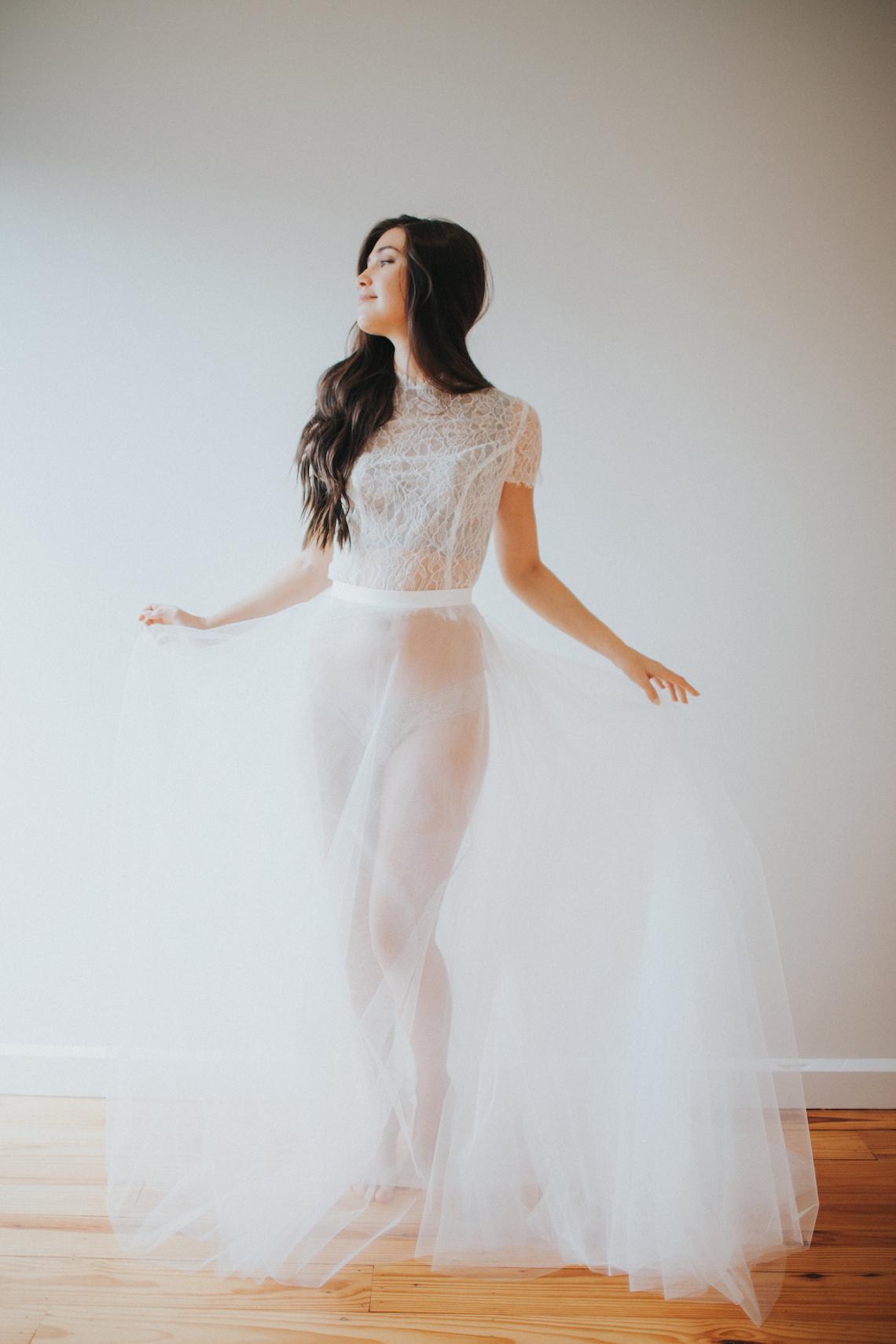 Light & Airy Peach Wedding Inspiration with Bridal Separates | Sara Gatlin Photo 34