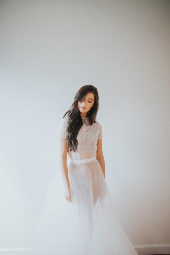Light & Airy Peach Wedding Inspiration with Bridal Separates | Sara Gatlin Photo 35