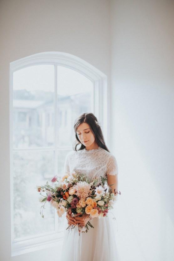 Light & Airy Peach Wedding Inspiration with Bridal Separates | Sara Gatlin Photo 38