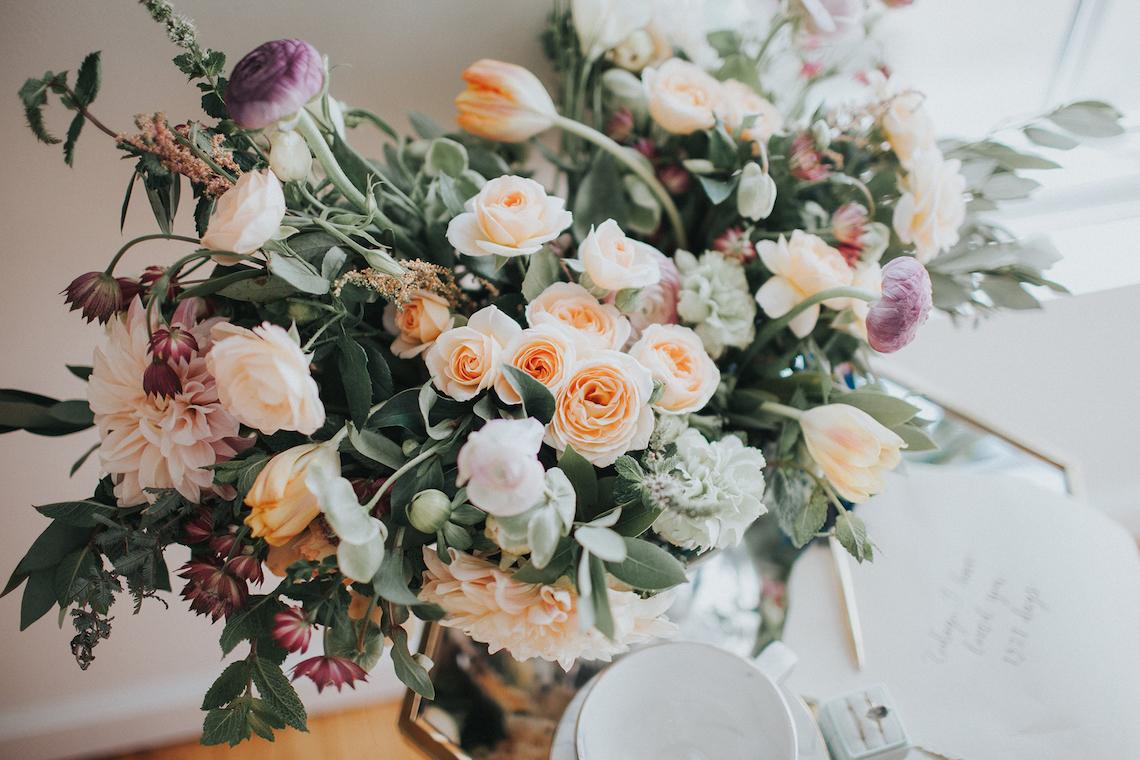 Light & Airy Peach Wedding Inspiration with Bridal Separates | Sara Gatlin Photo 6