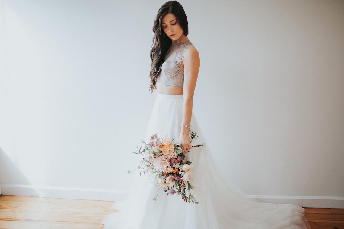 Light & Airy Peach Wedding Inspiration with Bridal Separates | Sara Gatlin Photo 8