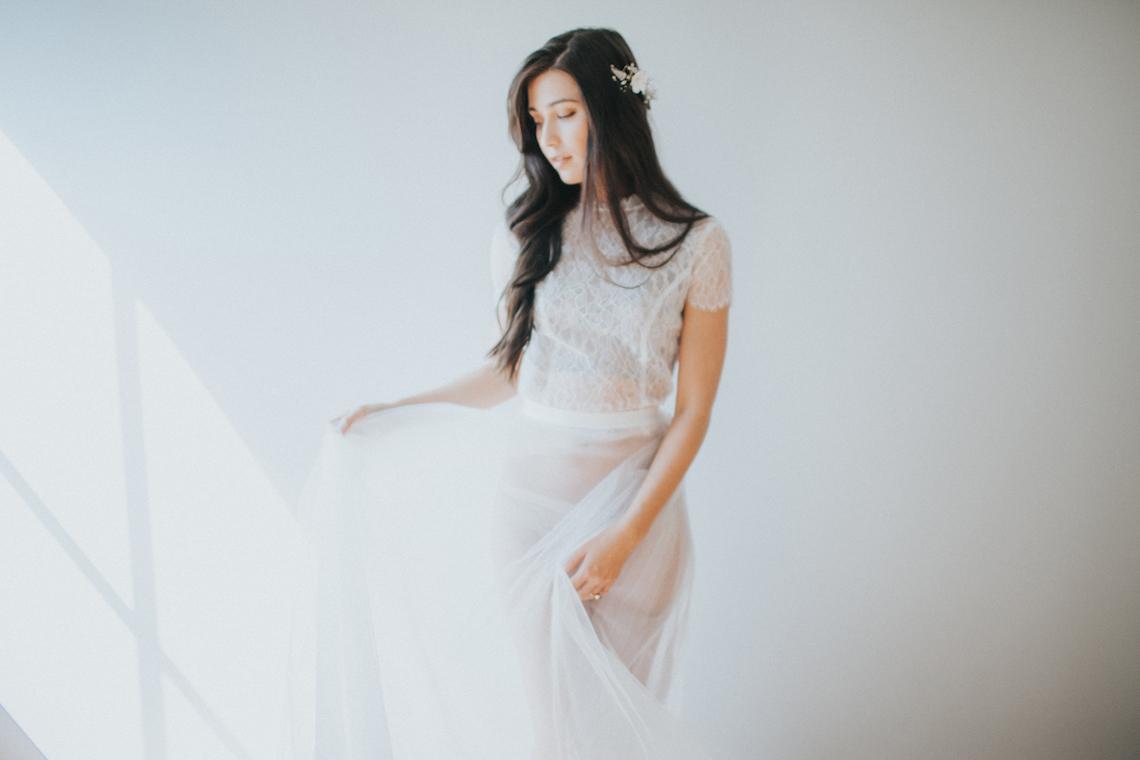 Light & Airy Peach Wedding Inspiration with Bridal Separates | Sara Gatlin Photo 9