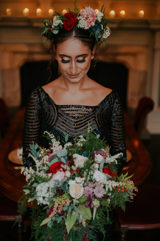 Luxurious Red & Green Wedding Inspiration Featuring A Glam Black Gown | Jamie Sia Photography 42