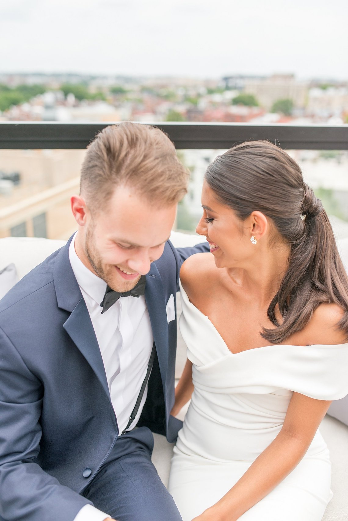 Classy Modern Rooftop Wedding Inspiration | Anna + Mateo Photography 18