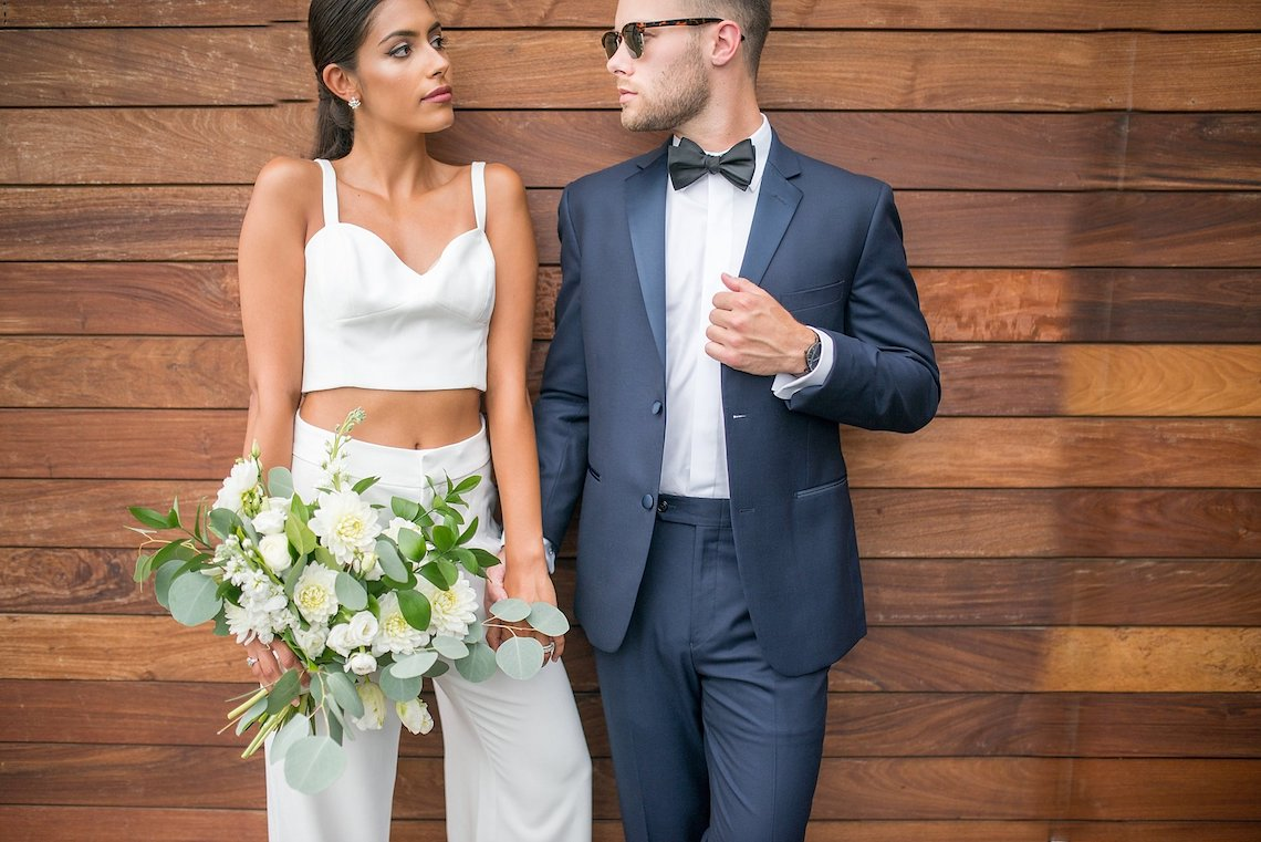 Classy Modern Rooftop Wedding Inspiration | Anna + Mateo Photography 62