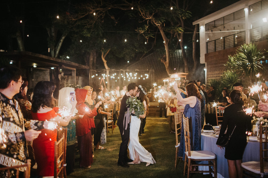 Modern & Hip Bali Wedding Featuring Sparklers & Flower Crowns | Iluminen Photography 22
