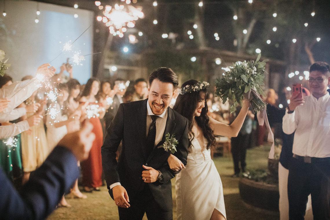 Modern & Hip Bali Wedding Featuring Sparklers & Flower Crowns | Iluminen Photography 23