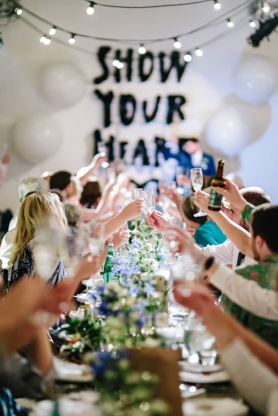 Underground Gallery Wedding In London With Cool, Flashy Signage | Studio 1208 Photography 41