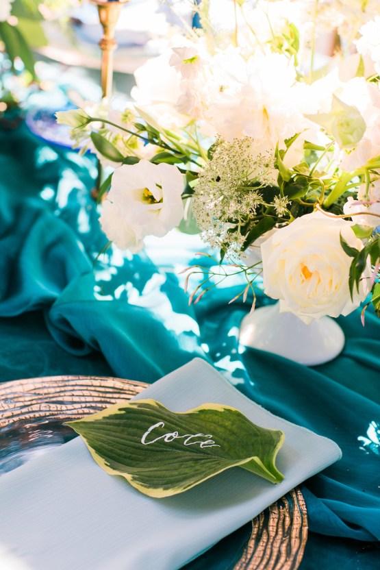 Vibrant Ocean Blue Watercolor Wedding Inspiration | Lola Event Productions | Artistrie Co. 23