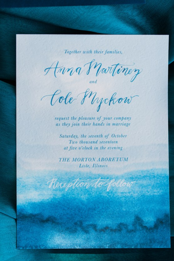 Vibrant Ocean Blue Watercolor Wedding Inspiration | Lola Event Productions | Artistrie Co. 27