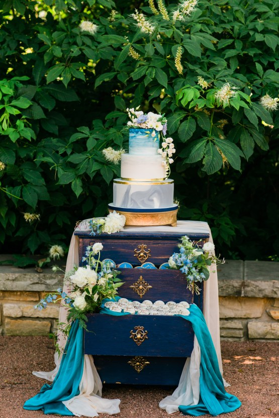 Vibrant Ocean Blue Watercolor Wedding Inspiration | Lola Event Productions | Artistrie Co. 31