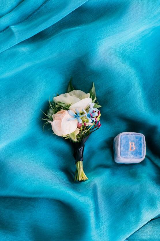 Vibrant Ocean Blue Watercolor Wedding Inspiration | Lola Event Productions | Artistrie Co. 44