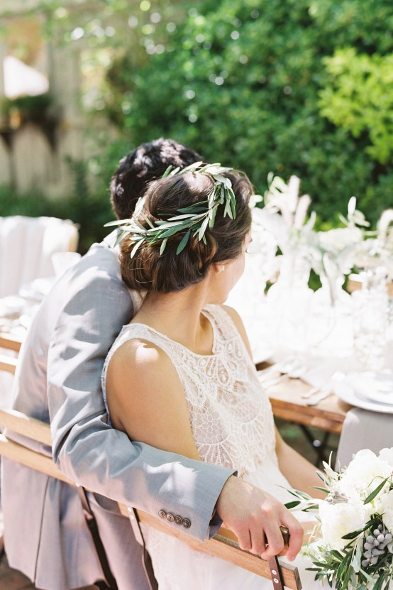 Vintage Lace; Pretty Wedding Ideas Featuring A Crepe Cake & Lamb's Ear Bouquet | Nathalie Cheng 24