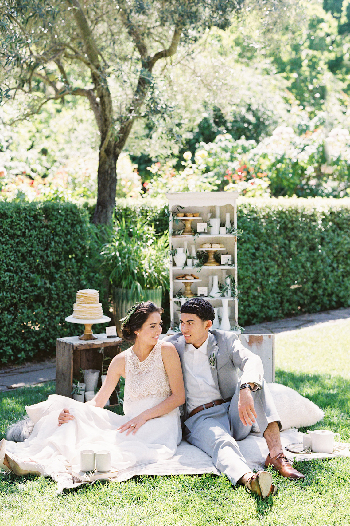Vintage Lace; Pretty Wedding Ideas Featuring A Crepe Cake & Lamb's Ear Bouquet   Nathalie Cheng 28