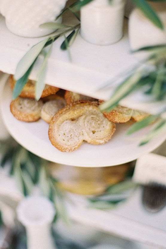 Vintage Lace; Pretty Wedding Ideas Featuring A Crepe Cake & Lamb's Ear Bouquet   Nathalie Cheng 34