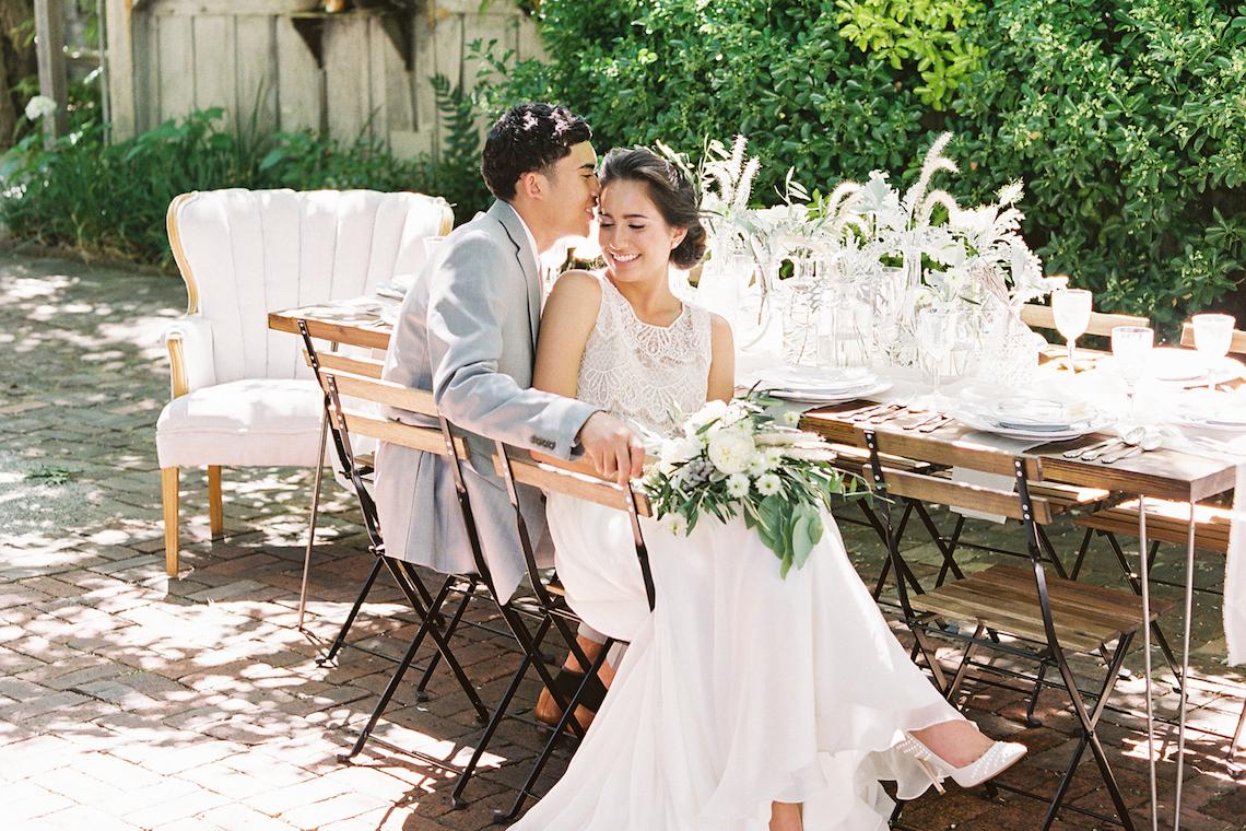 Vintage Lace; Pretty Wedding Ideas Featuring A Crepe Cake & Lamb's Ear Bouquet   Nathalie Cheng 45