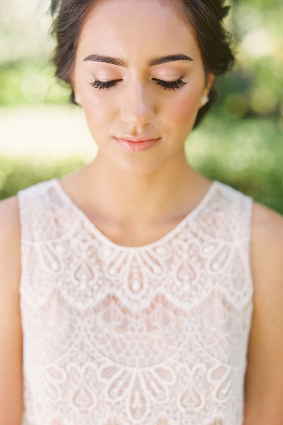 Vintage Lace; Pretty Wedding Ideas Featuring A Crepe Cake & Lamb's Ear Bouquet | Nathalie Cheng 6