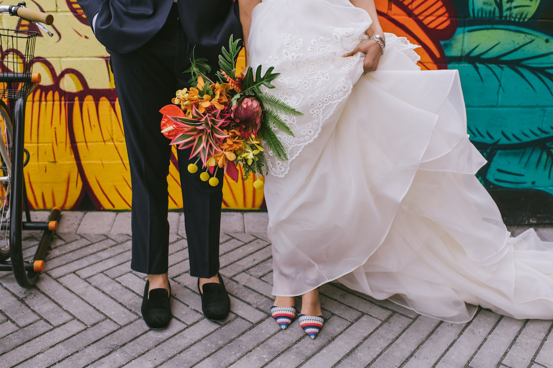 A Designer Bride's Hip Brooklyn Wedding With Tropical Vibes | KM Photo 11