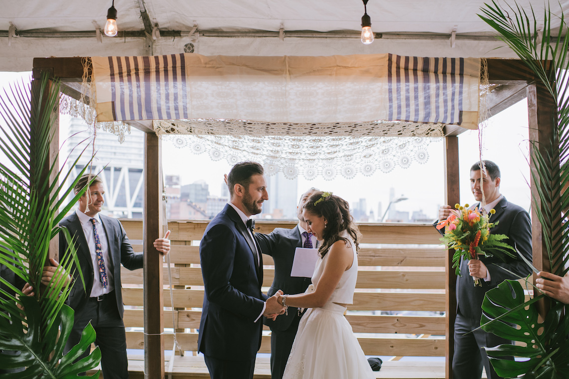 A Designer Bride's Hip Brooklyn Wedding With Tropical Vibes | KM Photo 14