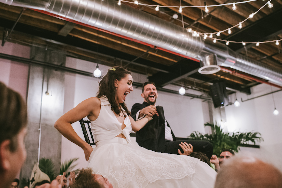 A Designer Bride's Hip Brooklyn Wedding With Tropical Vibes | KM Photo 21