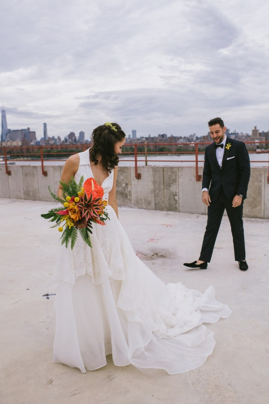 A Designer Bride's Hip Brooklyn Wedding With Tropical Vibes | KM Photo 28