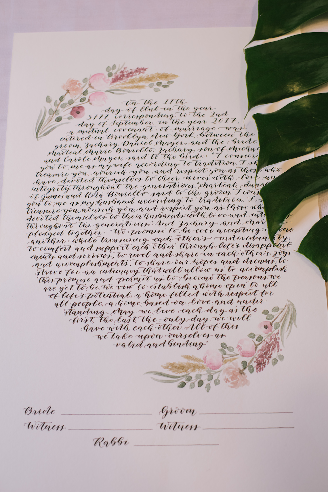 A Designer Bride's Hip Brooklyn Wedding With Tropical Vibes   KM Photo 38