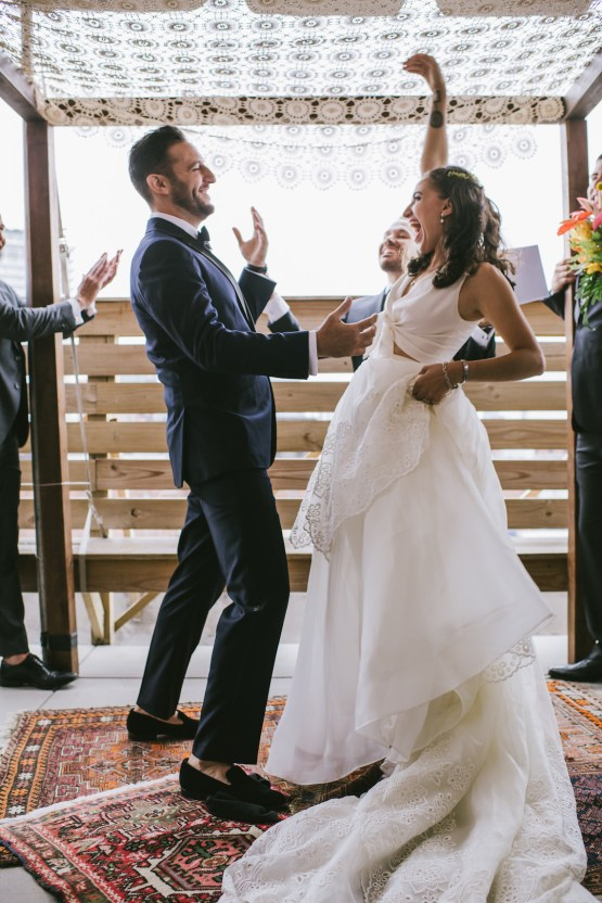 A Designer Bride's Hip Brooklyn Wedding With Tropical Vibes | KM Photo 42