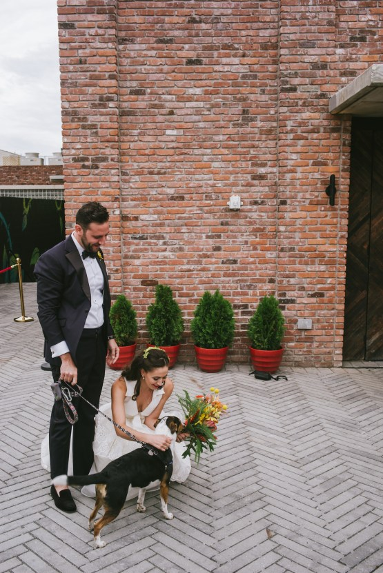 A Designer Bride's Hip Brooklyn Wedding With Tropical Vibes | KM Photo 47