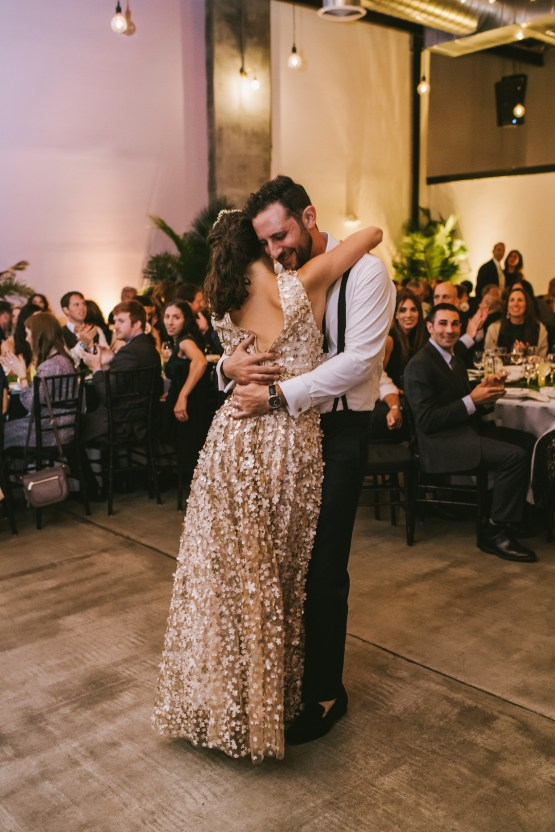A Designer Bride's Hip Brooklyn Wedding With Tropical Vibes   KM Photo 58