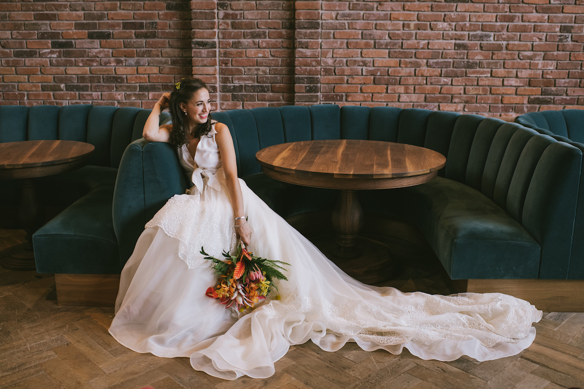 A Designer Bride's Hip Brooklyn Wedding With Tropical Vibes   KM Photo 6