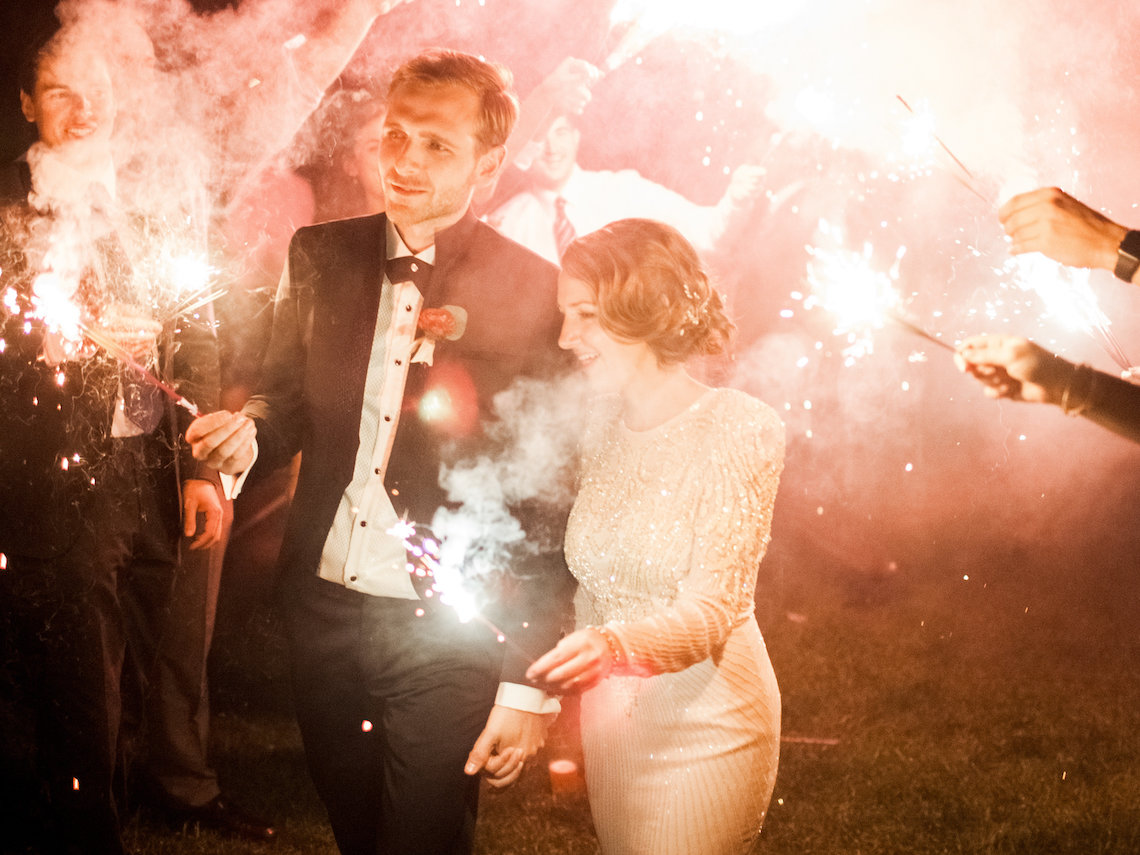 Colorful Vermont Lodge Wedding (With Sparkler Magic!) | Molly Lichten Photography 52