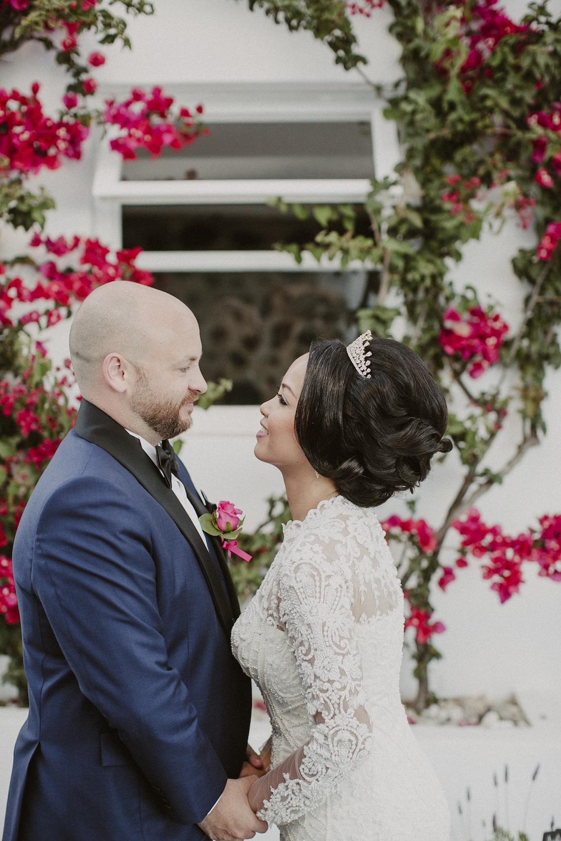Intimate & Luxurious Cliffside Santorini Wedding | Stella and Moscha | Nikos Gogas 14
