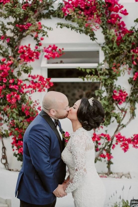 Intimate & Luxurious Cliffside Santorini Wedding | Stella and Moscha | Nikos Gogas 15
