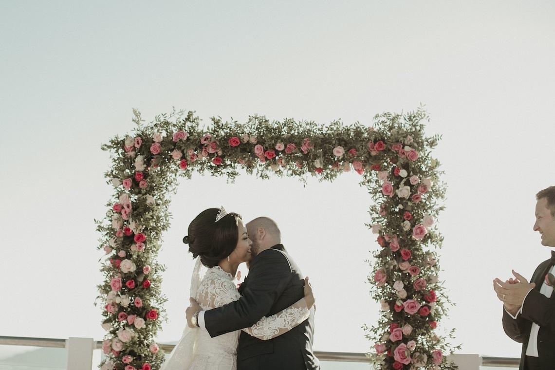 Intimate & Luxurious Cliffside Santorini Wedding | Stella and Moscha | Nikos Gogas 41