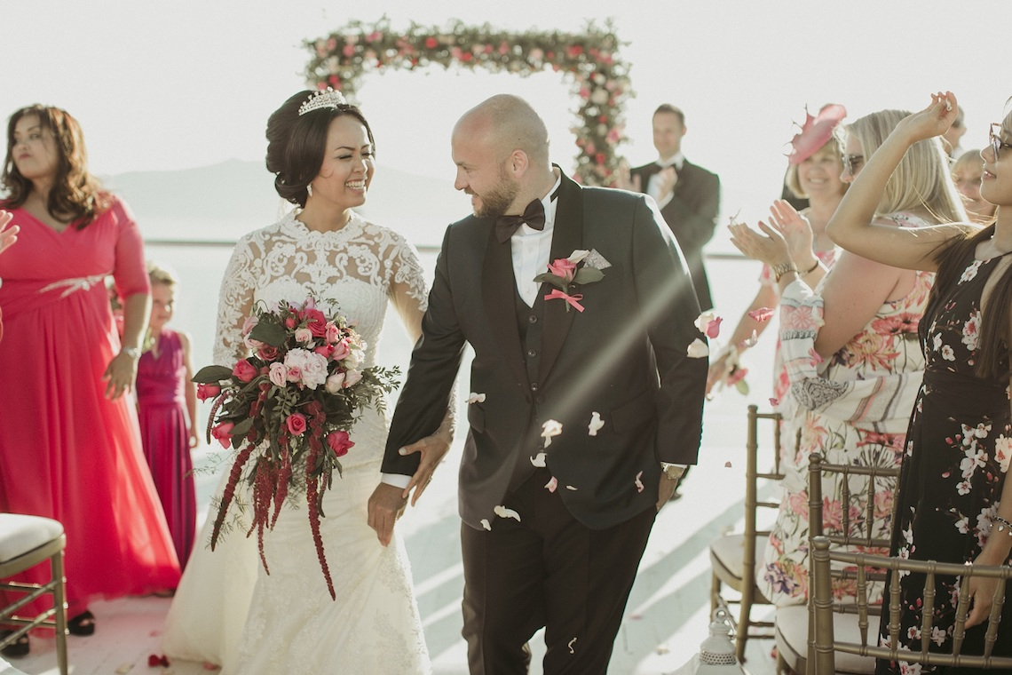 Intimate & Luxurious Cliffside Santorini Wedding | Stella and Moscha | Nikos Gogas 43