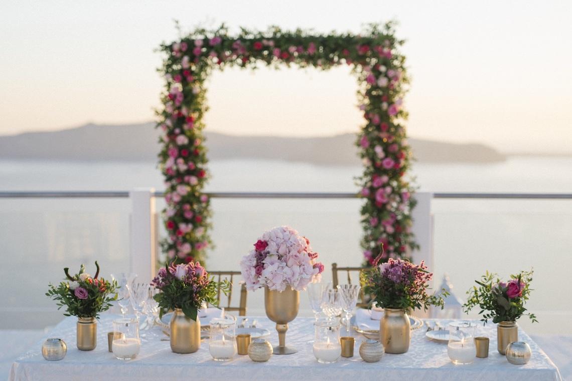 Intimate & Luxurious Cliffside Santorini Wedding | Stella and Moscha | Nikos Gogas 55