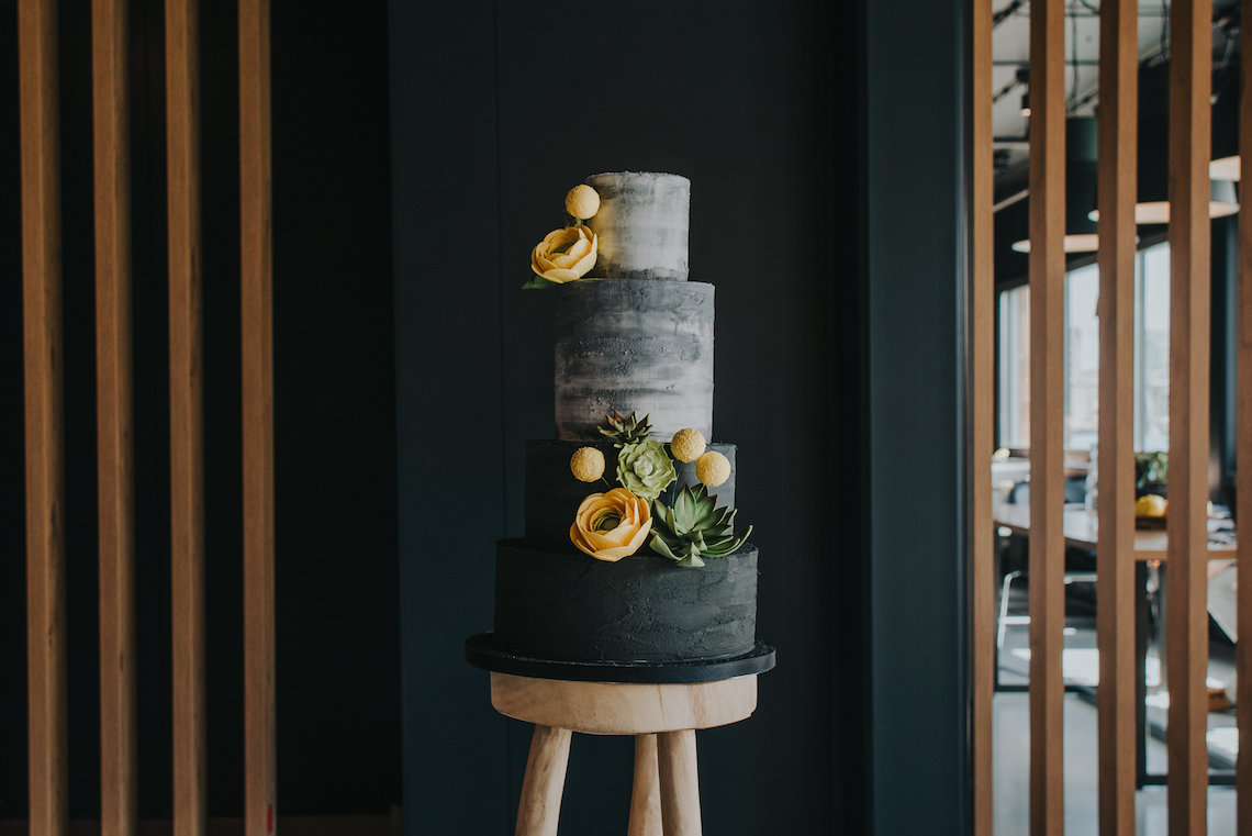 Modern Industrial London Wedding Inspiration With Succulents | Remain in the Light Photography 35