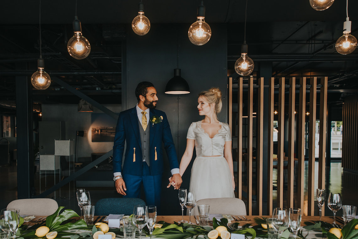 Modern Industrial London Wedding Inspiration With Succulents | Remain in the Light Photography 40