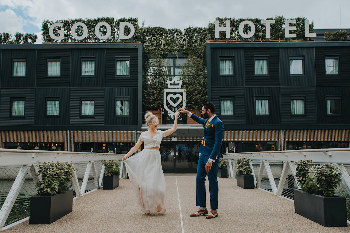 Modern Industrial London Wedding Inspiration With Succulents | Remain in the Light Photography 49