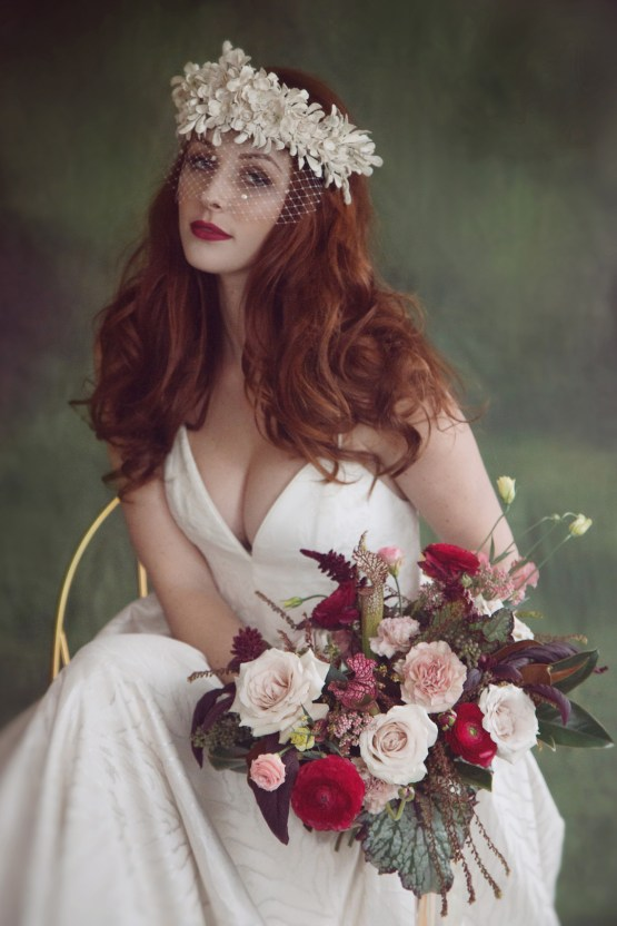 Rose Gold; Romantic Wedding Ideas With Stunning Headpieces | Flavelle & Co 13