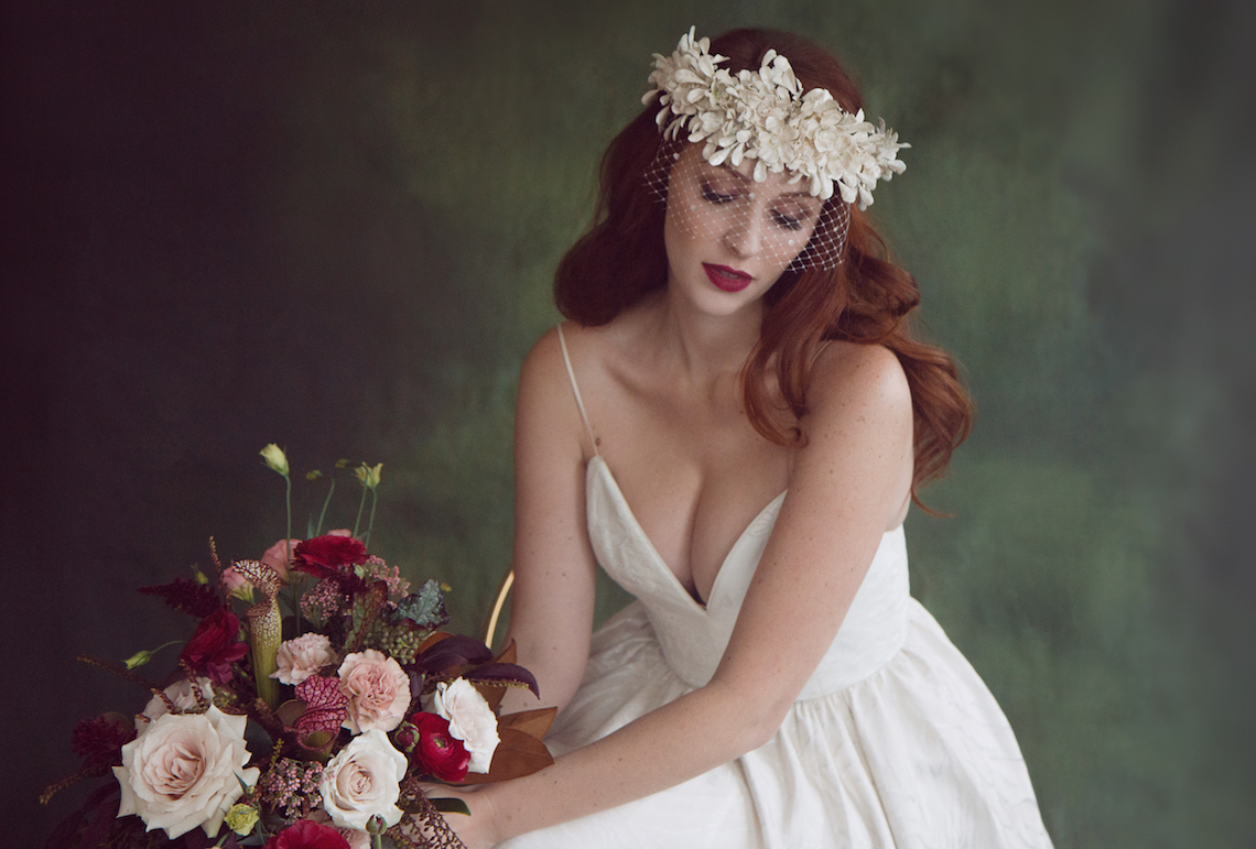 Rose Gold; Romantic Wedding Ideas With Stunning Headpieces | Flavelle & Co 15