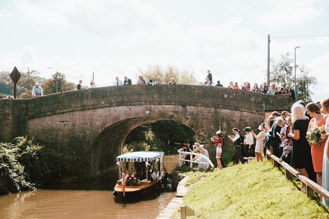 Totally Chic English Wedding With A Sweet Boat Ride   Oak & Blossom 29